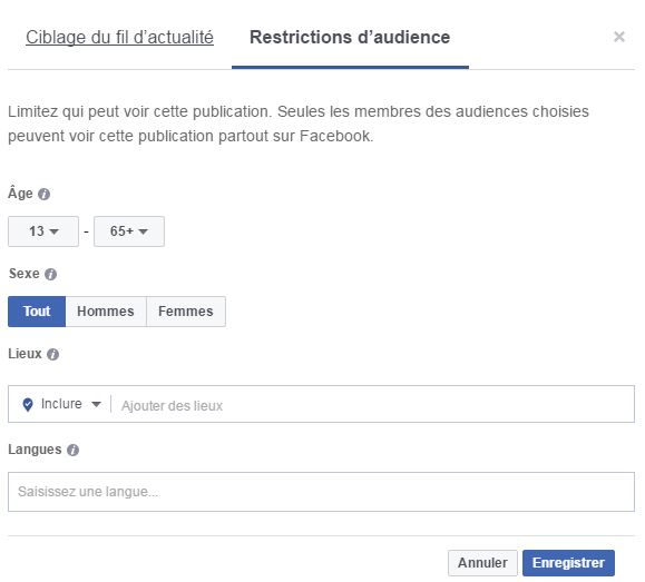 audience facebook