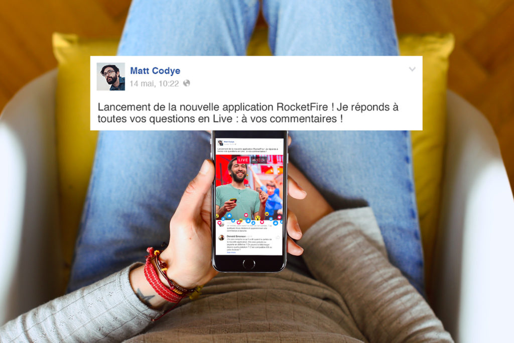 Visuel d'une description Facebook Live