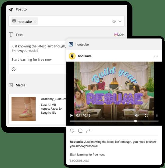 programmer post réseau social