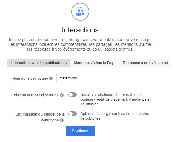 interactions fb